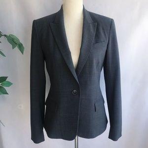 Theory Blazer Jacket Gabe B 2 Urban Gray Sz 10